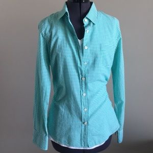 J Crew the perfect shirt gingham check